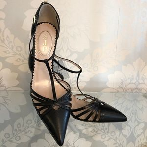 SJP by SARAH JESSICA PARKER Black Leather Heels